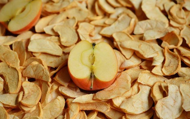 Plátky sušeného jablka